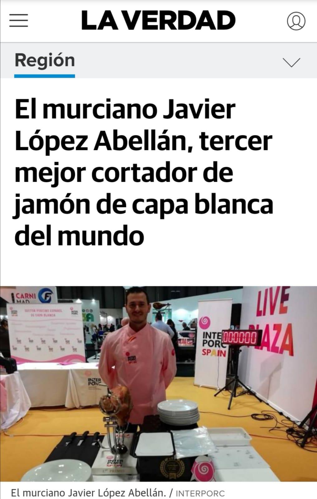 JAVIER LÓPEZ – TERCER PUESTO EN INTERPORC 2019